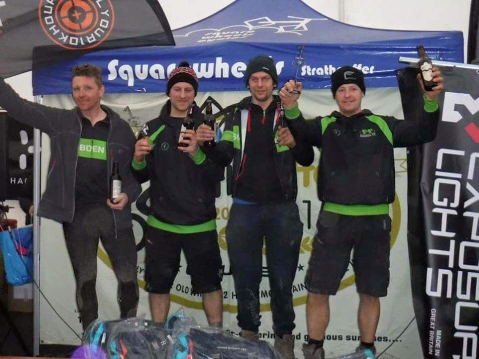 Winners of quad event at Strathpuffer 24hr, 2016